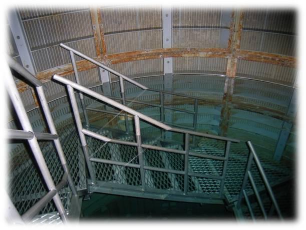 集水井の中の地下水