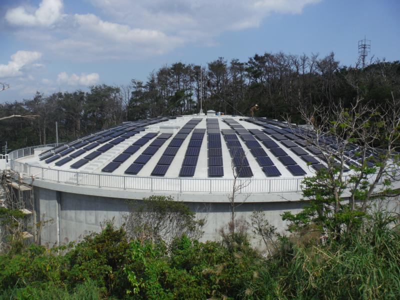 太陽光発電施設の建設(タイトル)