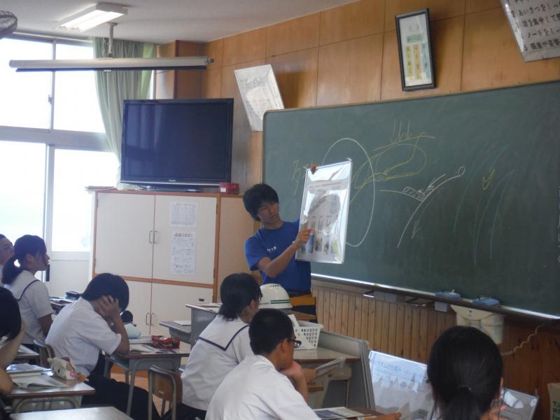 知名中学校出前授業風景②