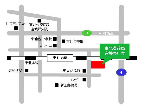 宮城野庁舎案内図