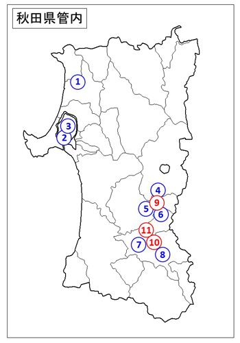 秋田県管内地図