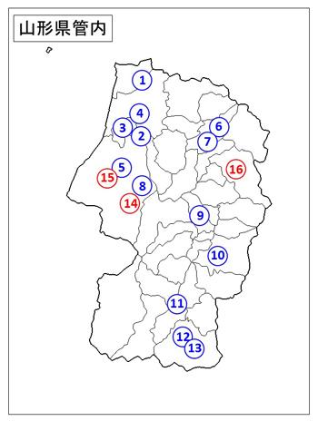 山形県管内地図