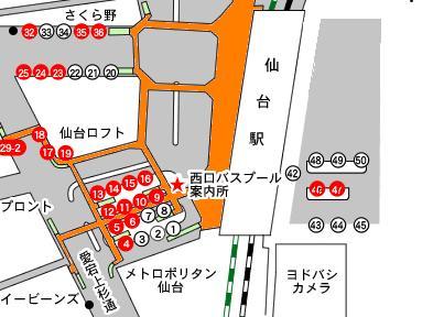仙台駅バスプールのりば