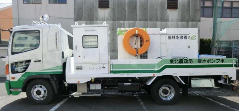 排水ポンプ車