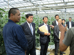 震災後若者4名で立ち上げた農業生産法人株式会社イグナルファームを視察