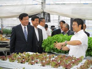 農福連携に取り組む農業生産法人株式会社あすファーム松島を視察