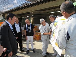 中山間地域の農地の大区画化と高収益作物への転換の取組を視察