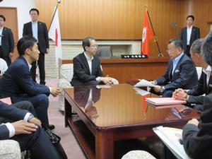 福島県知事との意見交換