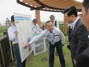 海岸防災林の造成地調査