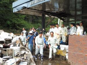 乳業工場の被災状況調査