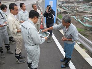 サケ・マスふ化場の被災状況調査
