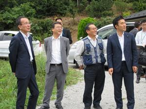 営農再開水田の現地調査(葛尾村)