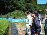 鹿野農林水産大臣視察 福島県飯舘村