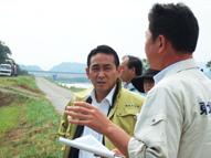 岩本農林水産副大臣視察 岩手県亘理町、仙台市