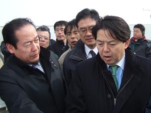 林農林水産大臣の視察(岩手県)