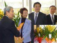 『東北に蘭の花を贈る』贈呈式