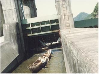 改修前の舟通し