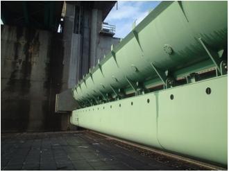 改修後の制水門