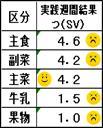 バランスガイド実践週間の表
