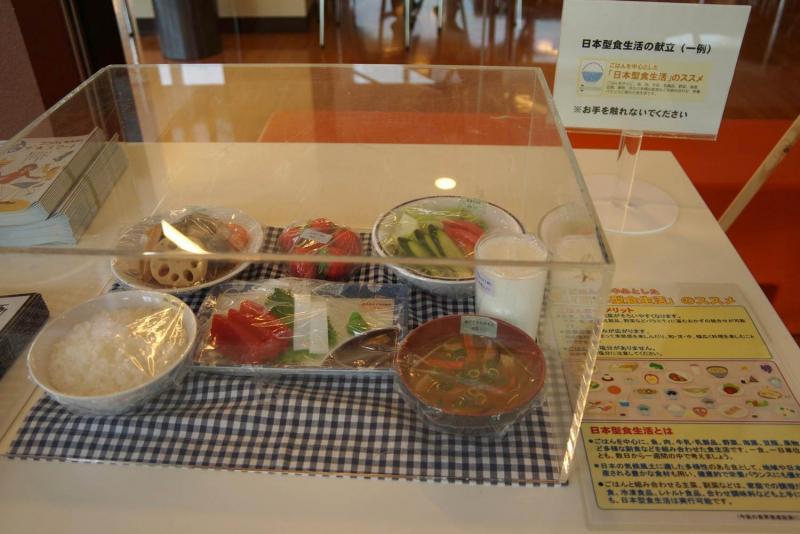 日本型食生活の献立のサンプル模型